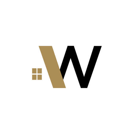 colorful W initial letter W logo vector with modern styles template  イラスト・ベクター素材