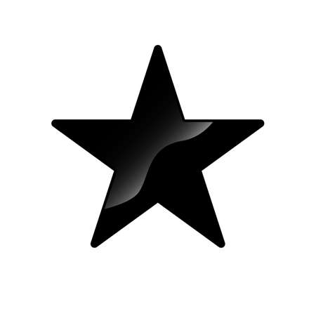 very black star logo vector icon concept illustration