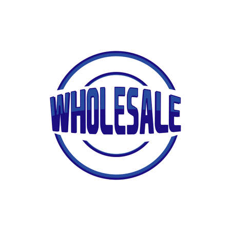 modern style stamp the letter of wholesale logo vector icon element