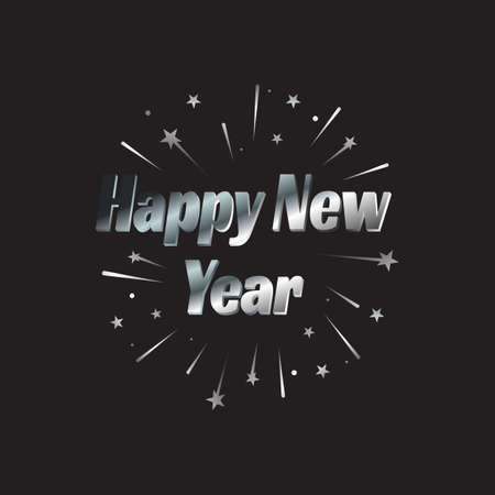 Happy New Year letter modern background. Ilustrace