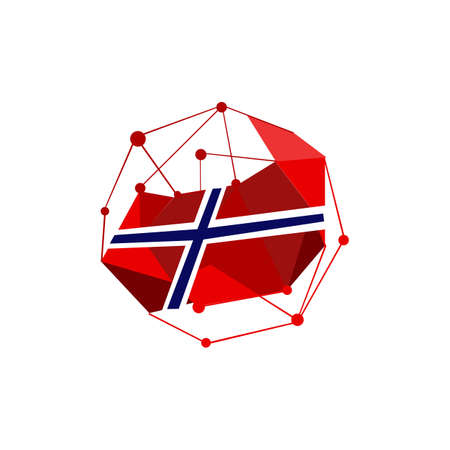 stylish modern norway flags logo. norwegian flag vector design illustrations