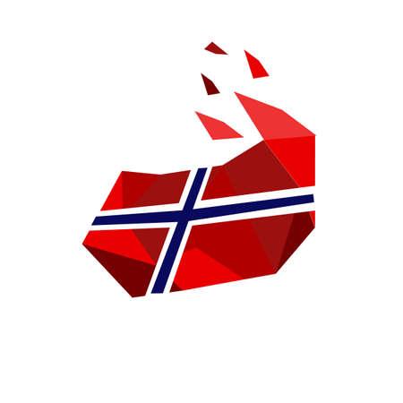 stylish modern norway flags logo. norwegian flag vector design illustrations