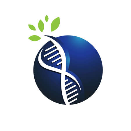 helix dna tree logo design vector icon. simple sign nature DNA strand icon Logo