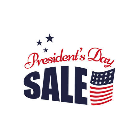 presidents day sale red blue color vector typography text for sale banners, greeting cards, gifts, promotions vector illustrations Illustration