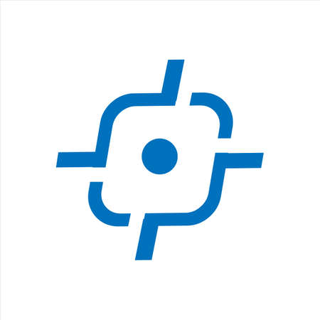 tiro bersaglio logo design vettore icona elementi simbolo illustrazioni