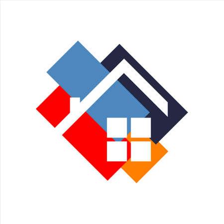 concetto grafico di simbolo di vettore di logo di design per la casa di architettura