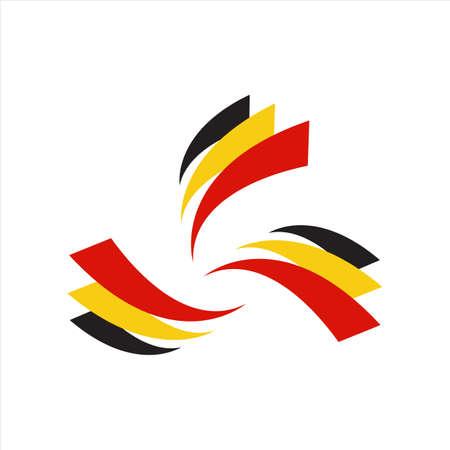 stylish 3 stripes belgium flag logo design vector icon symbol illustrations