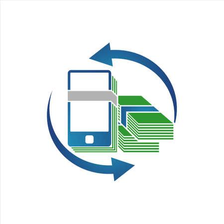 digital wallet e payment logo design vector illustration