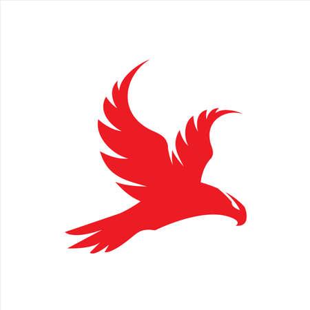 falco rosso falco aquila vettore Logo design icona illustrazione Template Logo