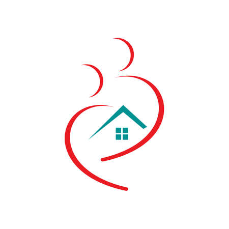 elderly caring and nurse home care logo design vector symbol graphic concept Illustration