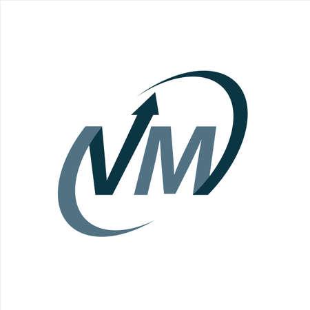 modern VM logo V M initial Letter design vector graphic concept illustrations