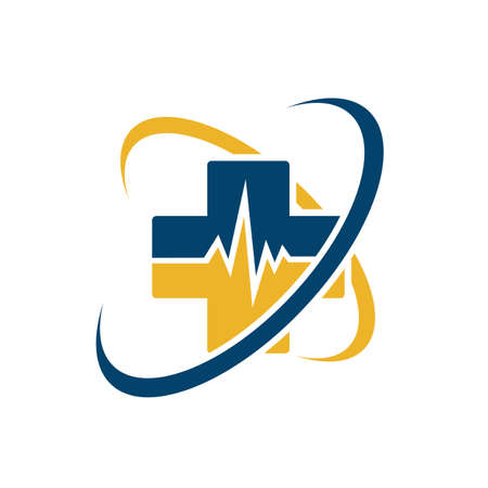 Healthcare medical logo vector icon for Ambulance Hospital Pharmacy symbol Foto de archivo - 138184060