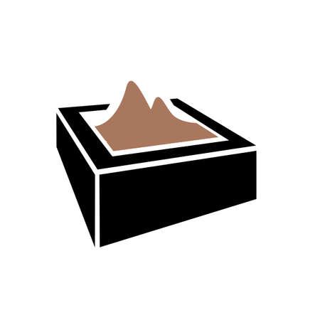 new creative sandbox icon logo design vector graphic concept Reklamní fotografie - 138184296