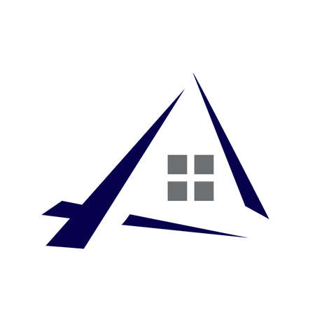 home house real estate realty logo vector design for property business and mortgage company Illusztráció