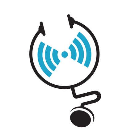 health service medical doctor logo vector design symbol Stock Illustratie