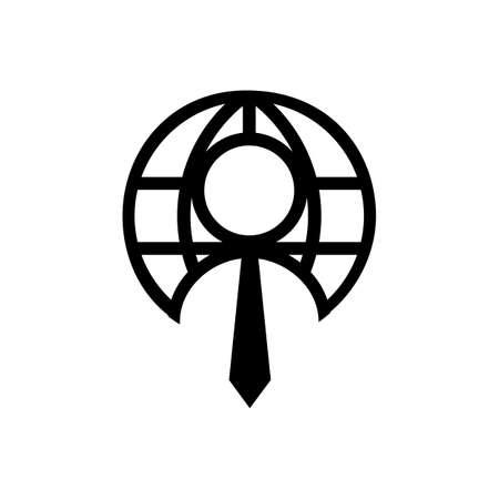 global employee recruitment logo icon design vector illustrations