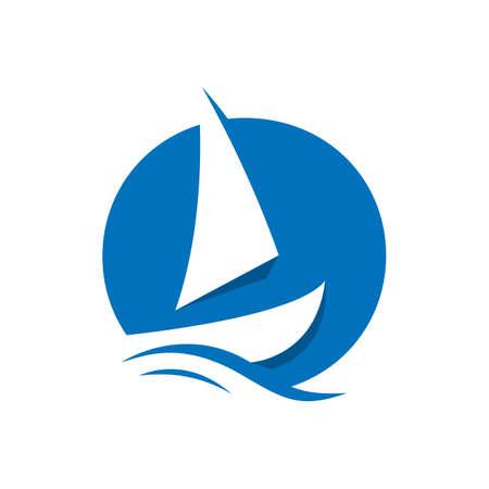 shipping logo design vector symbol for cargo ship freight transportation trade company