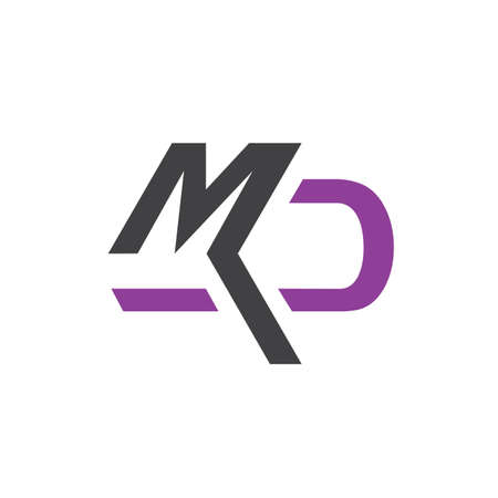 abstract MD logo initial D & M letter graphic concept vector icon template