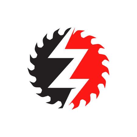 electric repair electrician logo design concept vector icon template