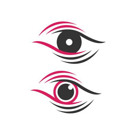 modern Optical Lens EyeLogo design vector for Ophthalmologist symbol