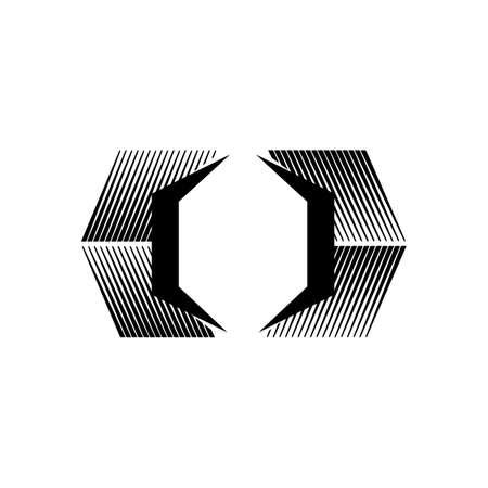 abstract box garage public self storage Logo design vector illustration