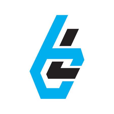 Lettering Typography BL logo design vector illustration