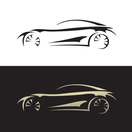 Automotive sport car logo vector speed vehicle concept illustration Ilustracja