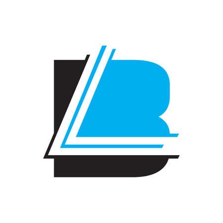 Lettering Typography BL logo design vector illustration Logó