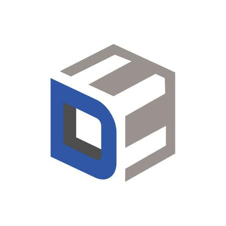 Letters DE D&E combination logo icon vector template illustrations