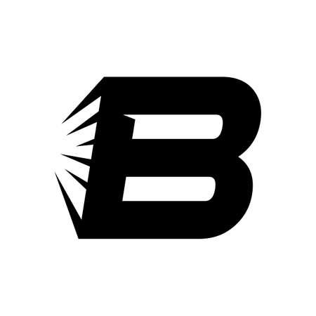 abstract creative Letter B initial logo design vector template Иллюстрация