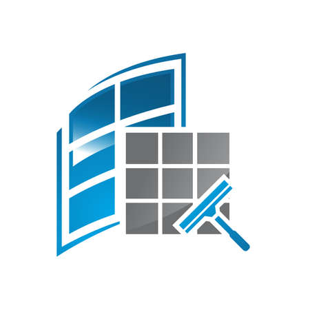 glass window cleaning logo design vector cleaning service symbol graphic concept