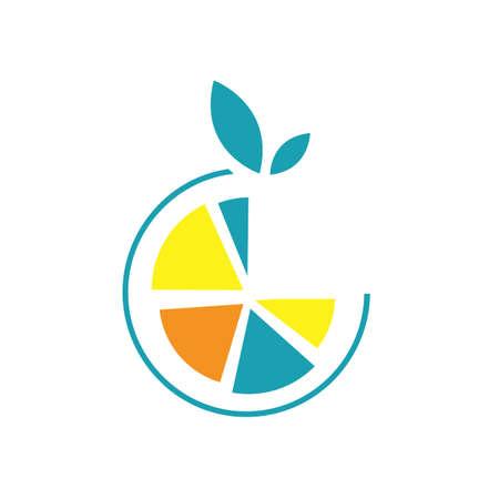 half orange lemon logo design vector symbol graphic Иллюстрация