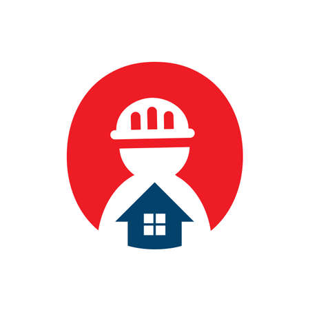 handyman logo vector design constructor concept illustration Ilustracja