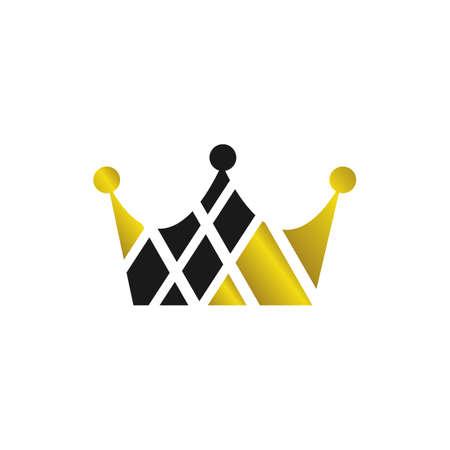 custom crown logo vector design Royal King Queen Prince abstract template