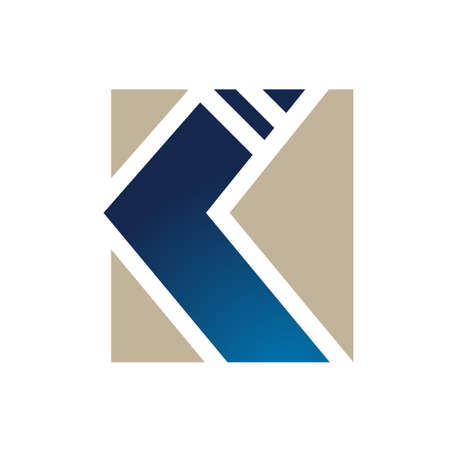 letter K logo concept overlapping line element icon and template