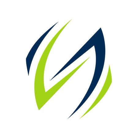 initial SS Letter logo design vector graphic concept illustrations Иллюстрация