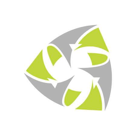 eco friendly recycled paper logo design vector icon symbol illustration