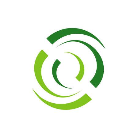 circular vortex wind energy logo icon vector template illustrations