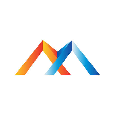 customize abstract creative Letter M initial logo design vector template Иллюстрация