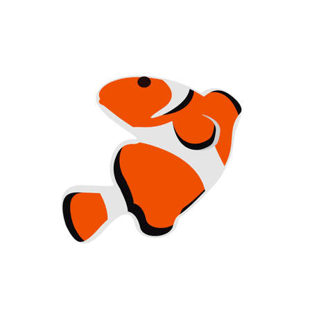 clown fish logo design vector isolated on white background