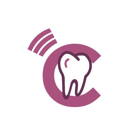 Dental Logo Clinic Tooth logo abstract design vector template