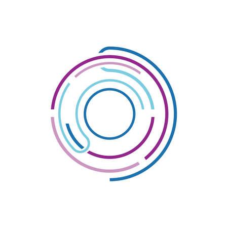 tech concept for digital technology solutions logo designs vector design
