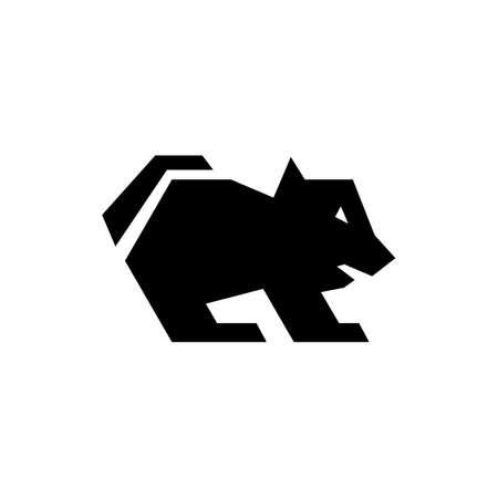 silhouette of tasmanian devil logo icon vector illustration Illustration