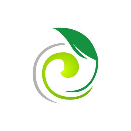 natural herb oil logo design with leaf and oil drop symbol vector illustration