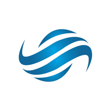 cuztomize creative modern water wave logo design vector symbol and icon illustration