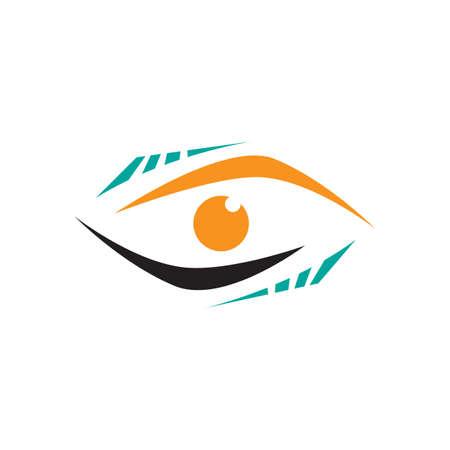 modern Vision Eyes Logo design idea concept vector illustrations