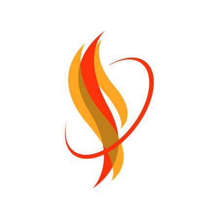 custom hot fire flames logo vector icons illustrations in white background