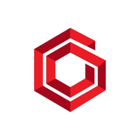 modern geometric hexagonal logo vector. hexagon design icon vector element