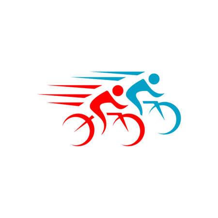 great custom creative biking race cycling logo design vector symbol illustration