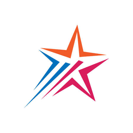 colorful decorative and creative abstract star logo vector icon concept illustration